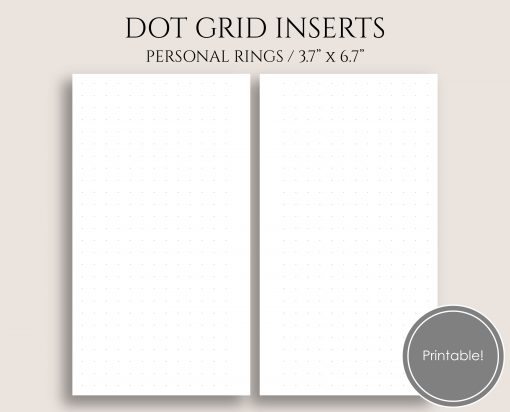 Dot Grid Personal 6-Ring Planner Printable