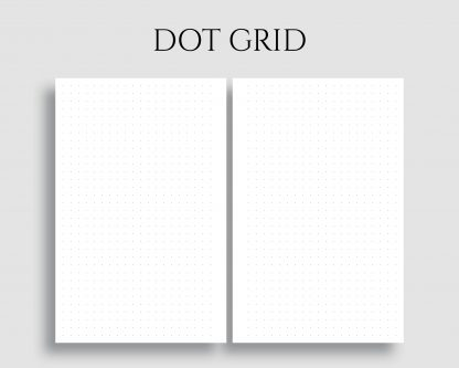 Dot Grid Dotted Filler Bullet Journal Paper Printable Planner Inserts