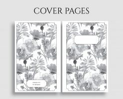 Printable Planner Insert Cover Title Pages Floral Bundle 2