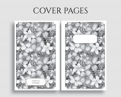 Printable Planner Insert Cover Title Pages Floral Bundle 3