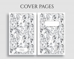 Printable Planner Insert Cover Title Pages Floral Bundle 4