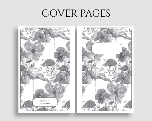 Printable Planner Insert Cover Title Pages Floral Bundle 5