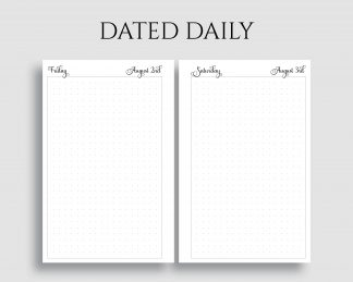 Free Planner Printable Library - PT Paper